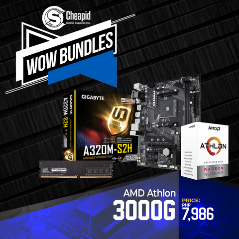 WOW Bundles - AMD Athlon 3000G