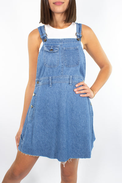 90s Denim Mini Dress - Size M