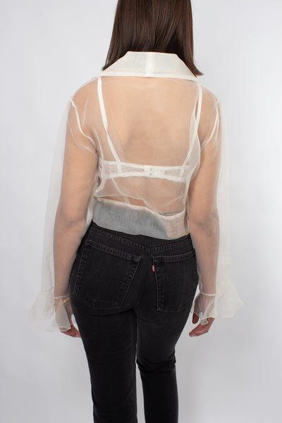 90s Sheer Blouse - Free Size