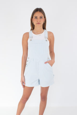 Baby Blue & White Check Overalls - 2 Sizes - XS/S & M