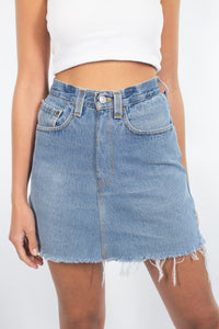"Levis Denim Skirt in Light-Mid Blue | 8 Sizes | 24"" 25"" 26"" 27"" 28"" 29"" 30"" 31"""