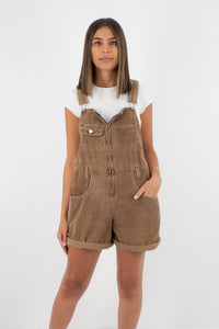 Brown Cord Overalls - Size L