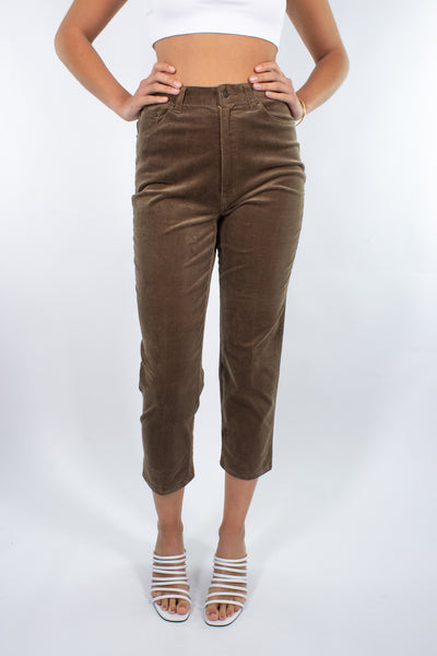 Brown Cord Stretch Pant - Size S / 26""