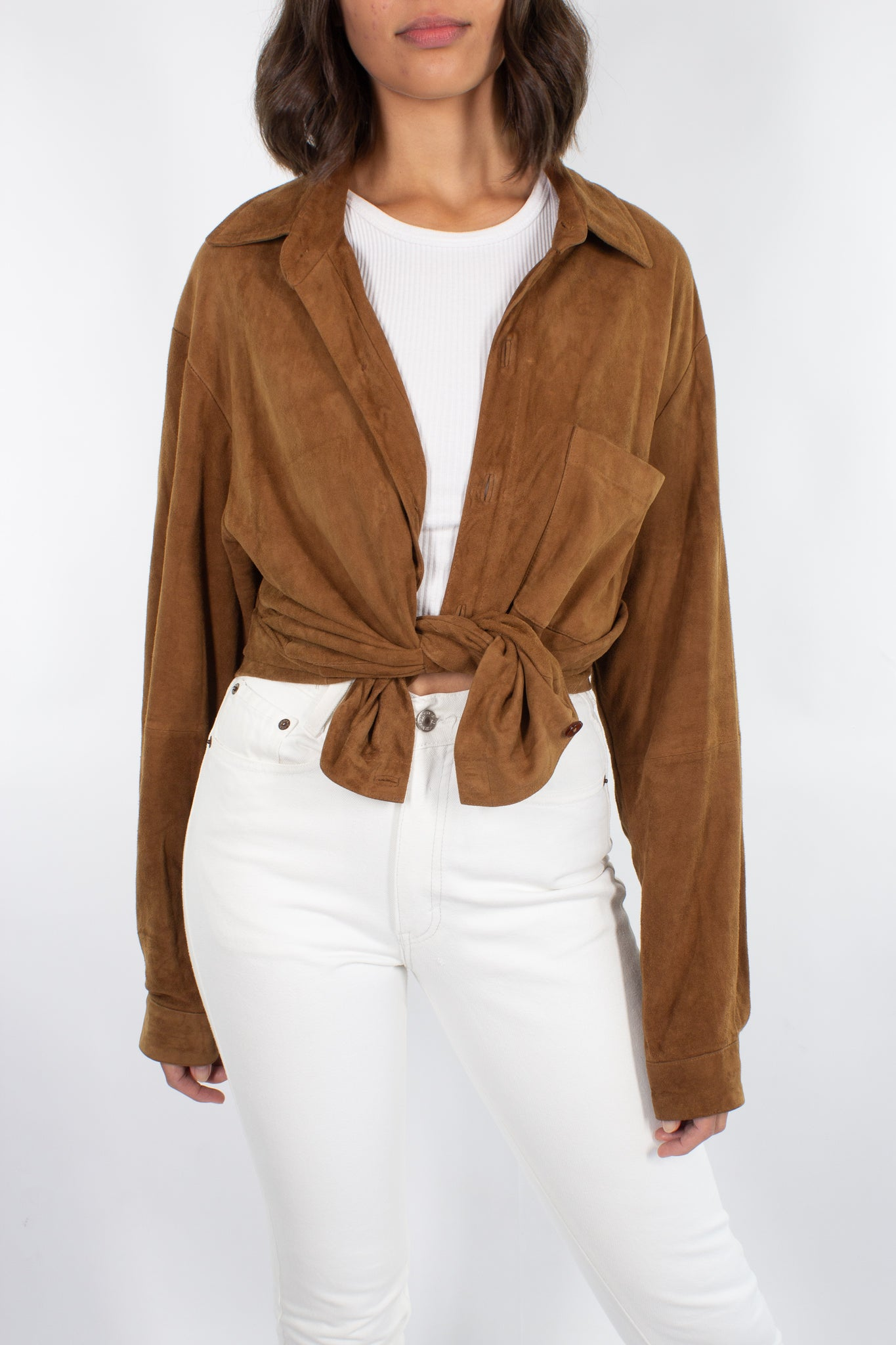 Brown Suede Shirt / Jacket - Free Size