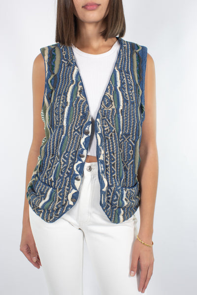 COOGI vest with Green Suede - Free Size