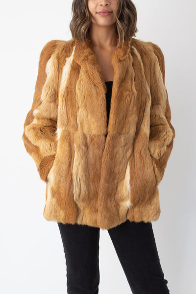 Copper Chestnut Fur Coat - Size XS/S/M