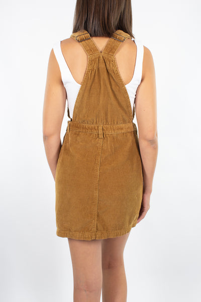 Cord Mini Dress in Mustard - 2 Sizes S + M/L