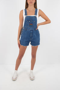 Denim Overalls in Dark Blue - Size XXS