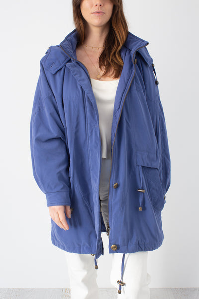 Dark Lilac Hooded Jacket - Free Size