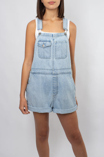 Denim Overalls - Light Blue - 3 Sizes S & L & XL