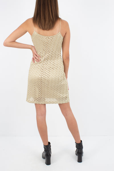 Gold Stretch Mini Dress - Size XS/S