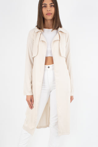 Beige Floaty Trench Coat - Size XS/S/M