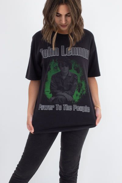 John Lennon 'Power To The People' T-Shirt - Size L