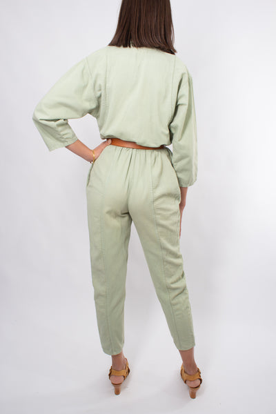 Jumpsuit in Light Pistaccio - Size XS/S 6-8