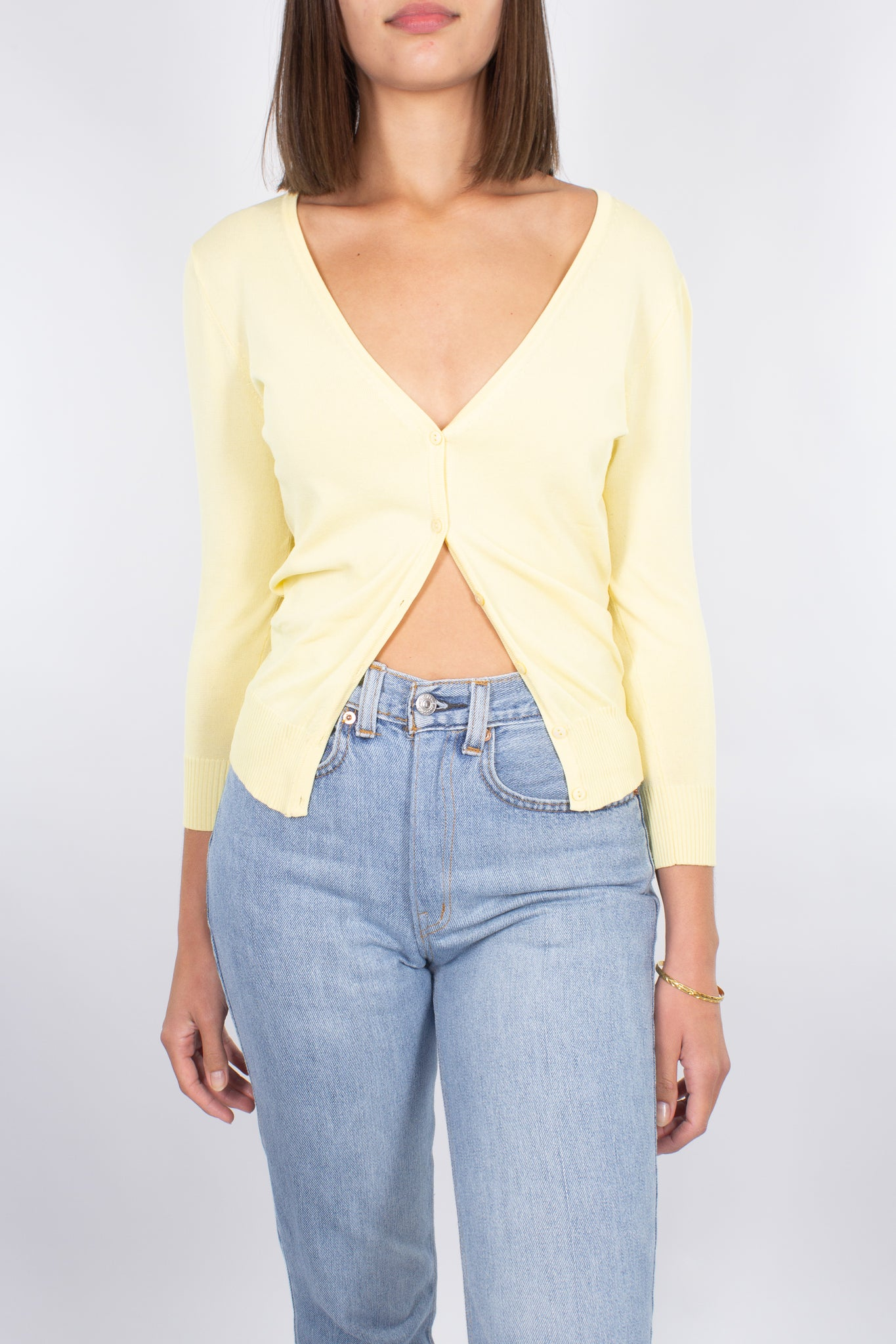 Lemon Yellow Knit Cardi - Size XS/S