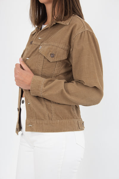 70s Levis Cord Jacket - Tan Light Brown - Size XS/S