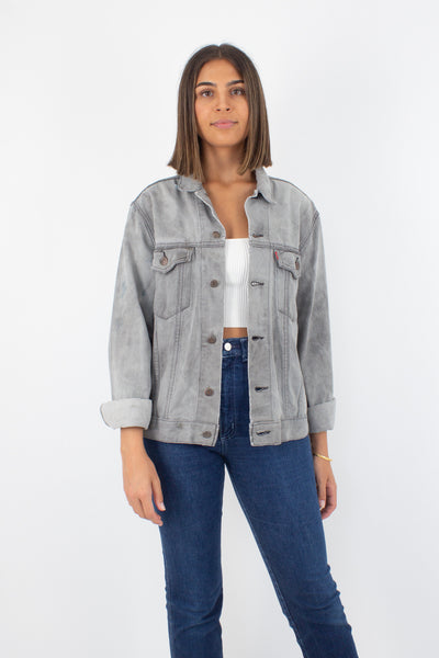 Levis Denim Jacket - Grey - Size S/M