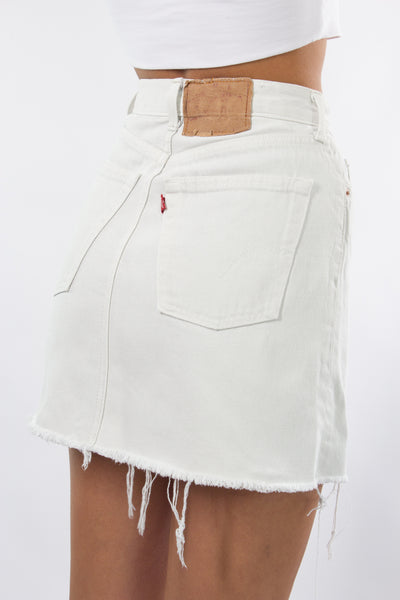 White Levis Denim Skirt - 2 Sizes XS & S