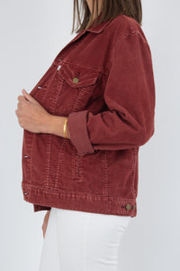 Levis Cord Jacket - Maroon - Size XS/S/M