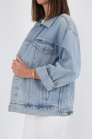 Calvin Klein Denim Jacket in Light Blue - Size M/L