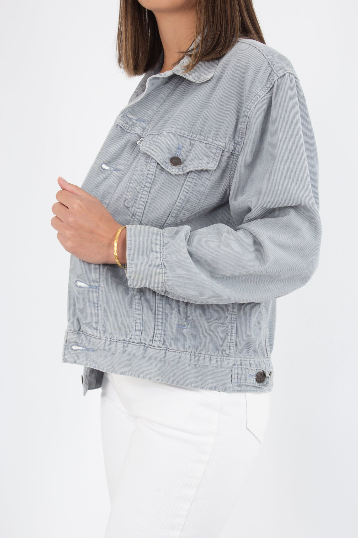 Levis Cord Jacket - Light Grey - Size S/M