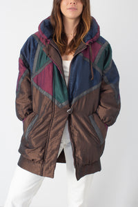 Metallic 80s Duck Down Ski Jacket - Free Size