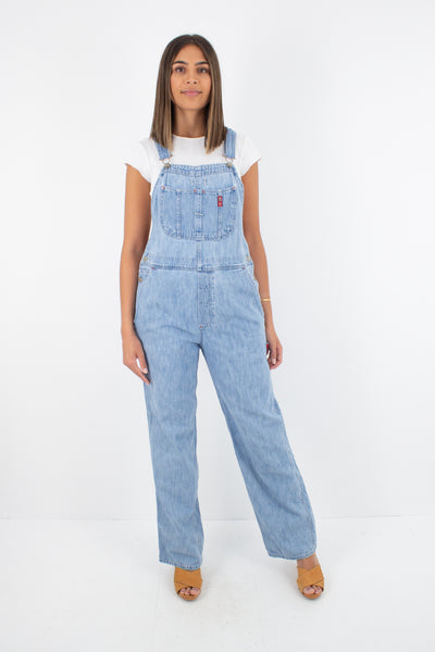 Polo Jeans Ralph Lauren Light Blue Long Denim Overalls - Size S/M