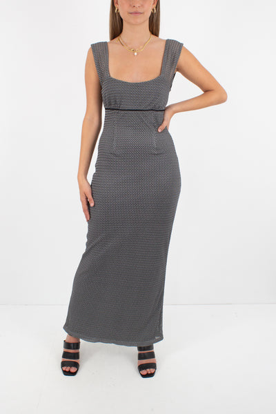 Silver Maxi Dress - Size S