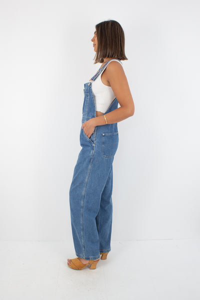 Tommy Hilfiger Long Denim Overalls - Mid Blue - Size S/M