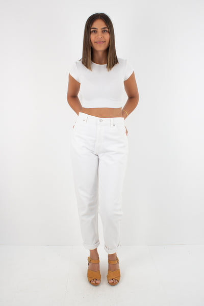 "White Levis Jeans - 951 - High Waist - Tapered Leg - Size 29"" / M / 10"