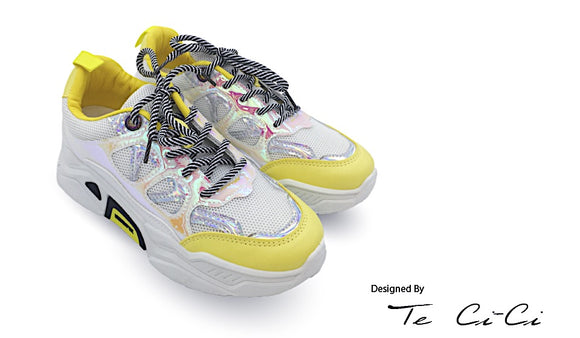 Bumble Bee Inspired Laced Up Sneakers