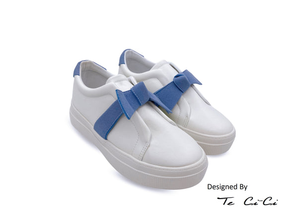 Ribbon Slip On Sneakers
