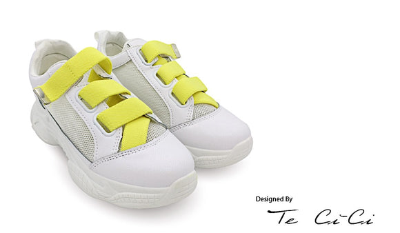 Pineapple Strappy Platform Sneakers