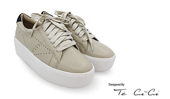 Brown Sugar Milk Tea Inspired Platform Sneakers