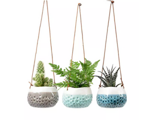 Trio of Hanging Pots