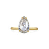 Pear Rose Cut Diamond Solitaire