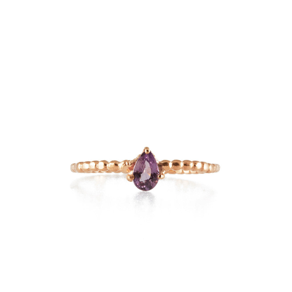 BINDI <p>rose gold and pink sapphire ring</p>