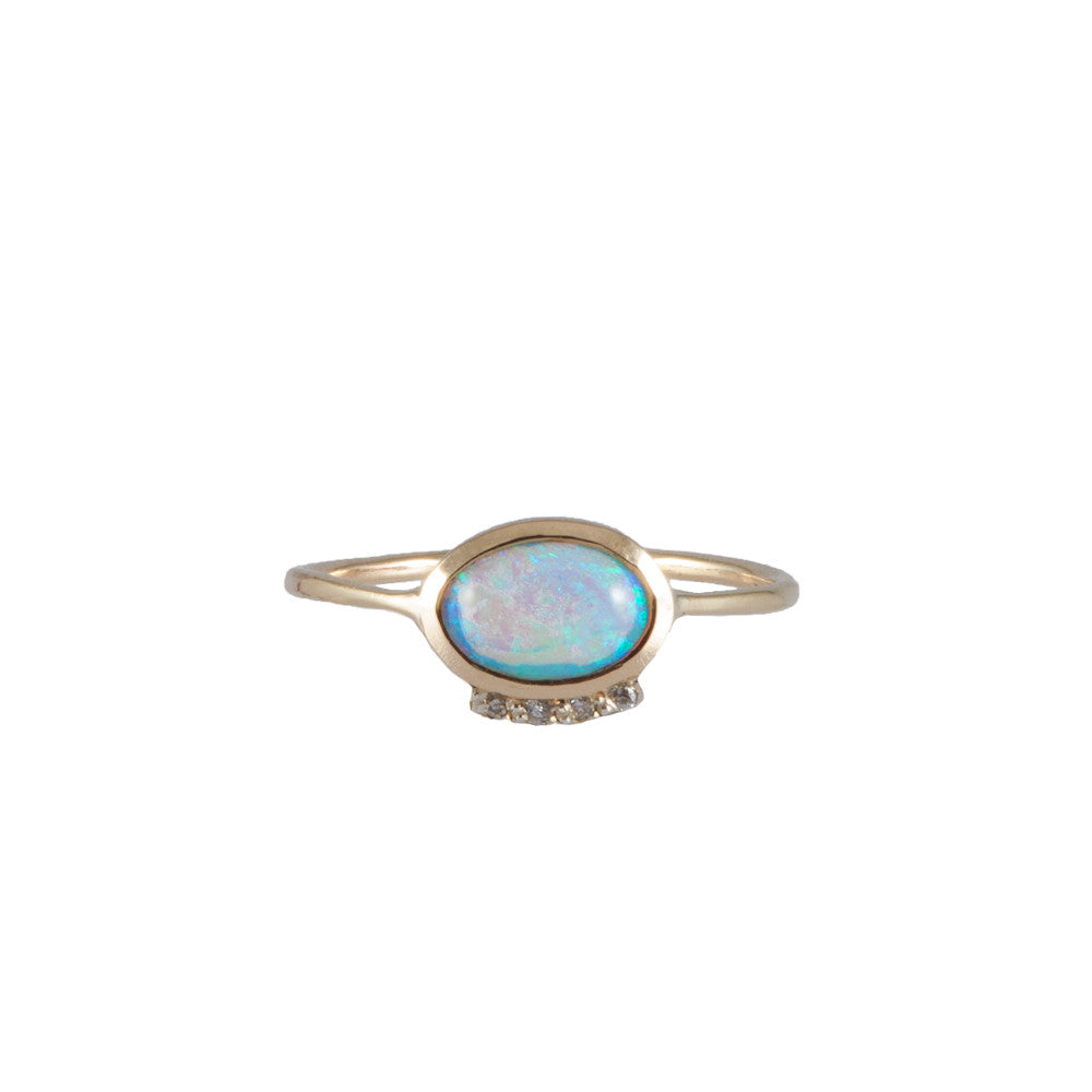 OPAL EYE <p>gold engagement ring</p>