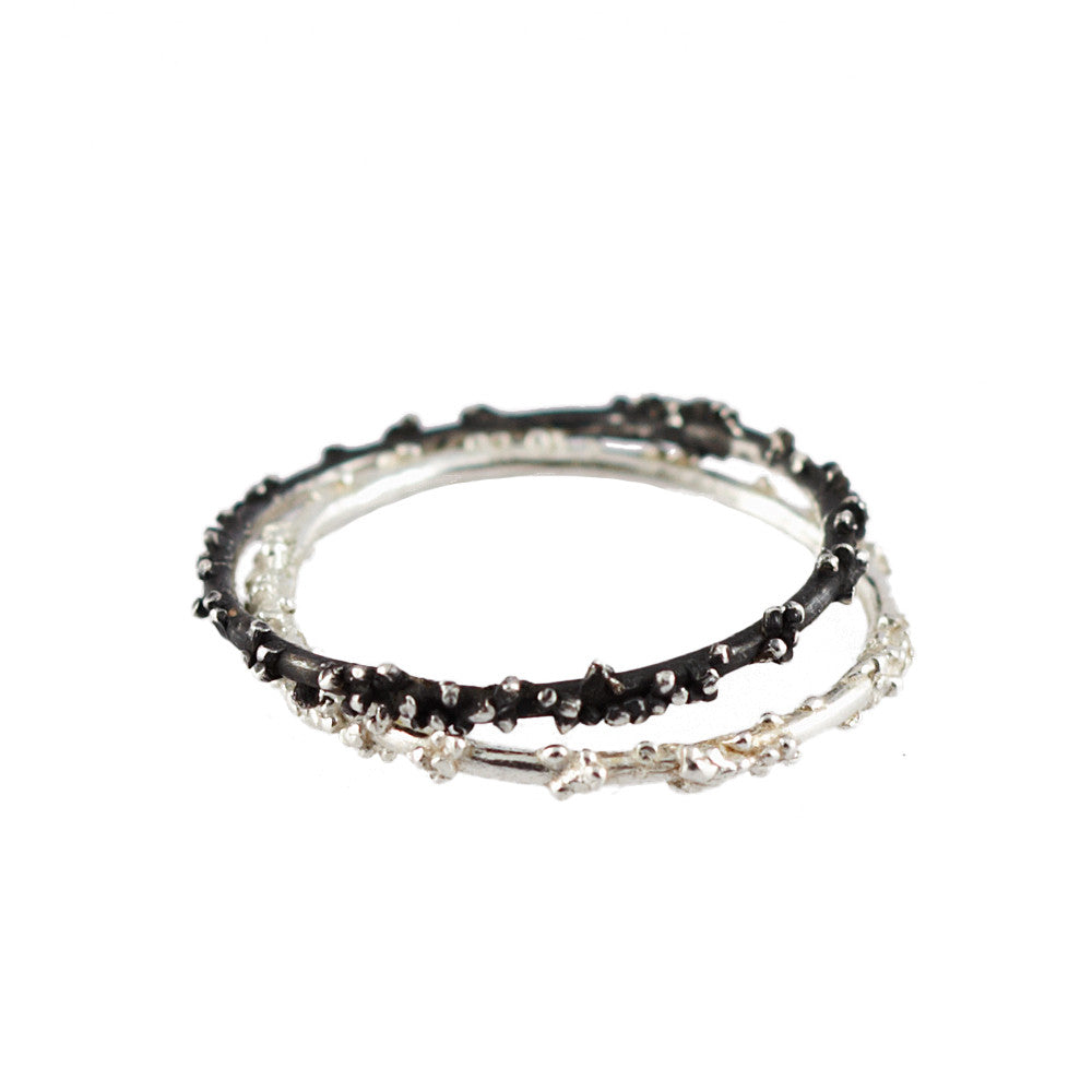 ENCRUSTED <p>silver stacking ring</p>