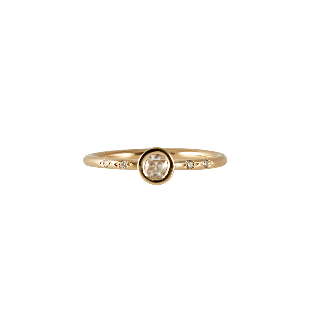 ASTRAL <p>rose cut diamond ring<p>