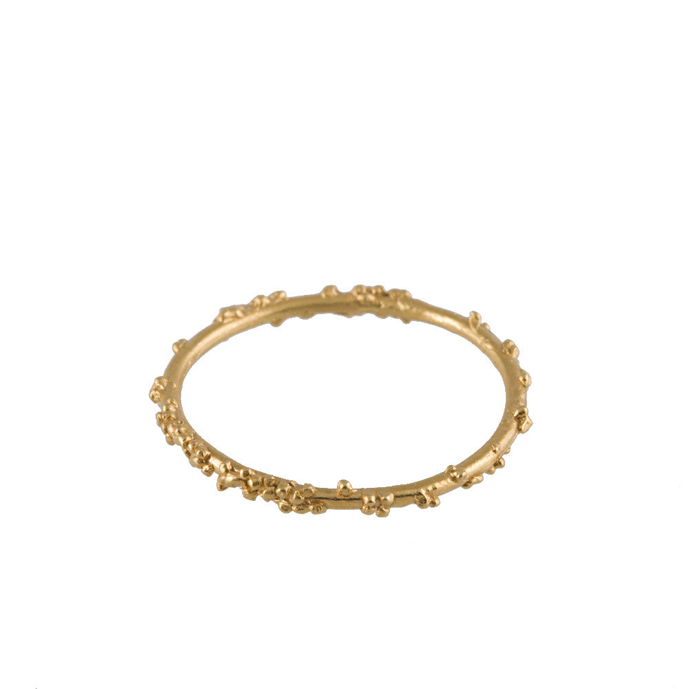 ENCRUSTED <p>gold stacking ring</p>