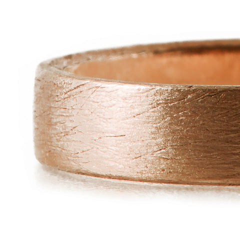 BRUSHED <p>rose gold wedding band</p>