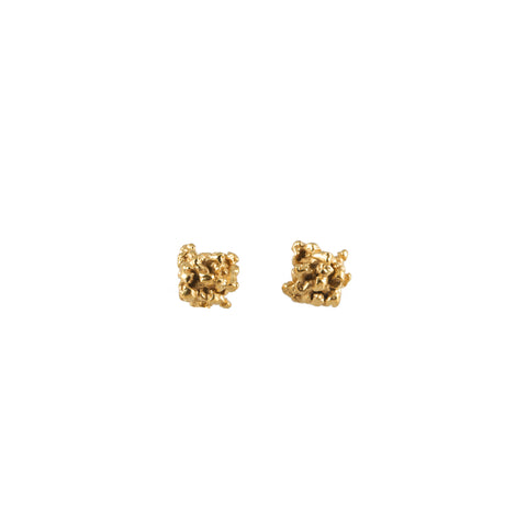 ENCRUSTED little gold studs