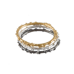 ENCRUSTED gold stacking ring