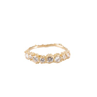ANEMONE <p>gold half eternity ring</p>