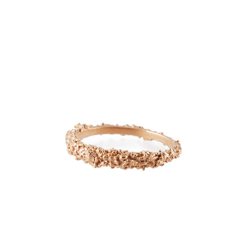 BARNACLE rose gold stacking ring