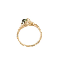 BLOOM <p>gold and green sapphire ring</p>