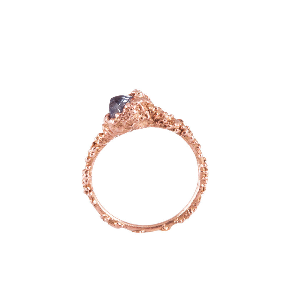 BLOOM <p>rose gold and ceylon sapphire ring</p>
