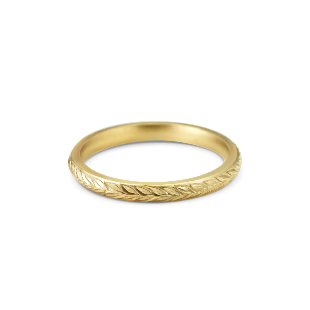 WHEAT<p>18ct gold wedding ring</p>