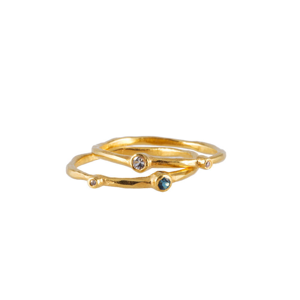 ORGANIC <p>stackable gold ring</p>